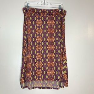 LuLaRoe Azure knee length skirt XL
